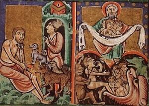 Se murió el mendigo, y los ángeles lo llevaron al seno de Abrahán