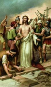 décima estación del via crucis